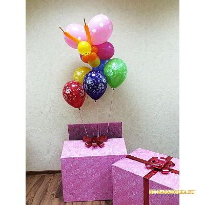 Коробка с шариками сюрприз своими руками