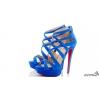 Эффектные синие туфли Christian Louboutin