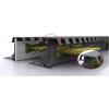 В складских помещениях с высотным стеллажным хранением есть бетонные полы DIN 15185
