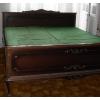 Кровать двухспальная, б/у, с двумя матрасами